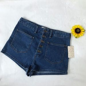 Free People We The Free | High Waist Denim Shorts